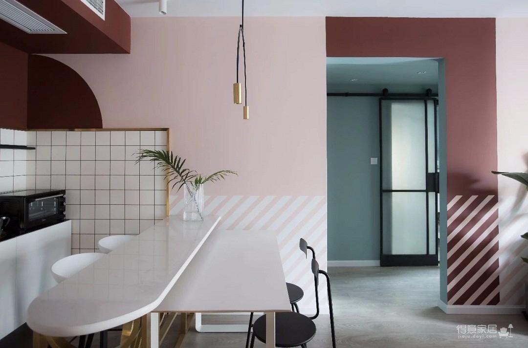 100㎡混搭风格装修,大胆的色彩搭配,打造前卫艺术家居空间 !图_8