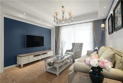 万丰丰泽园90平三室美式风格装饰效果图