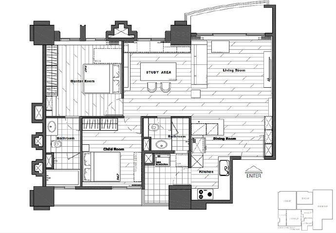 80m²两居室简约宜家风,简单舒适图_2