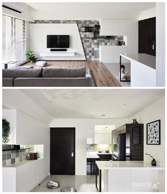 80m²两居室简约宜家风,简单舒适图_1