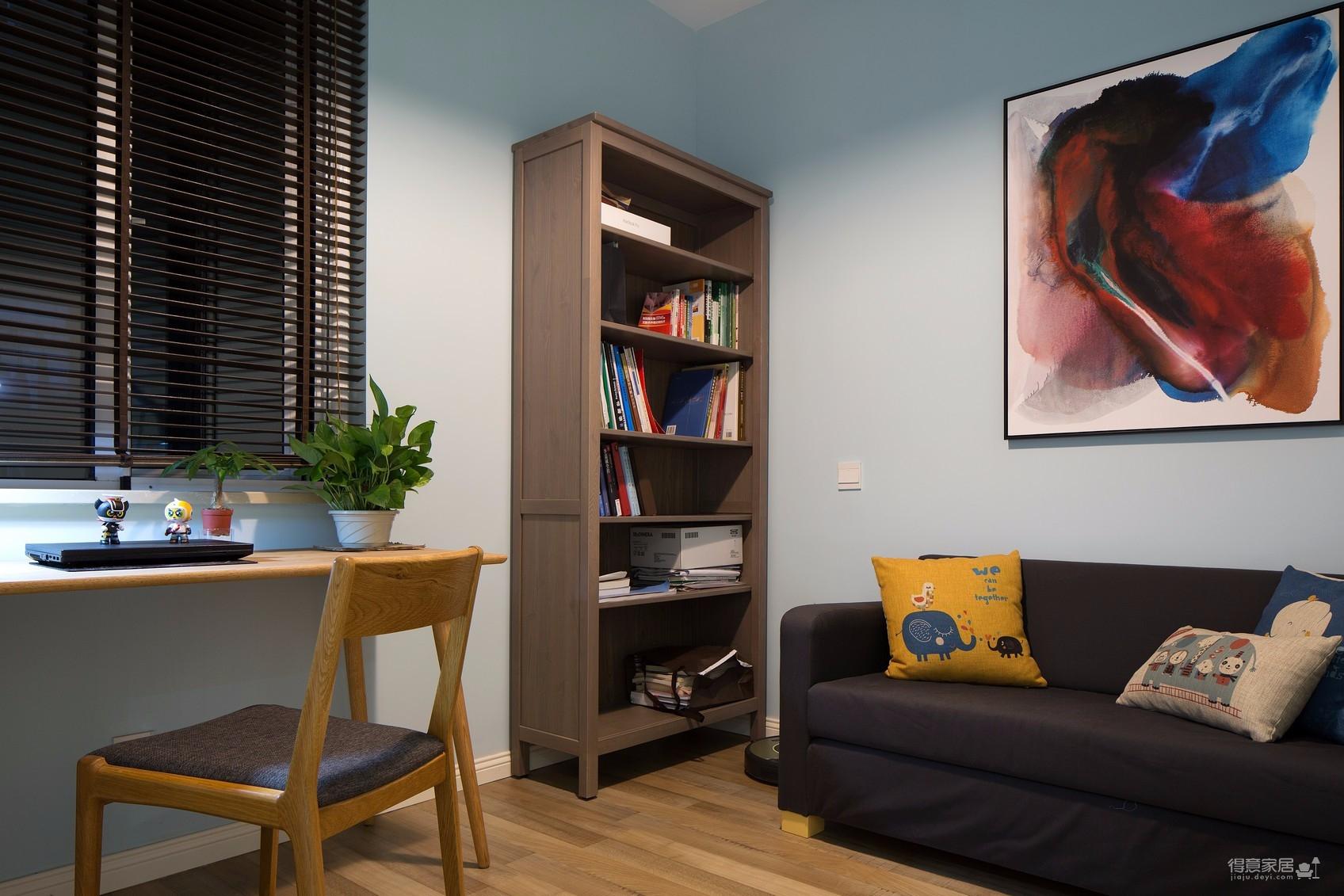 混搭风现代北欧轻奢三室一厅图_8