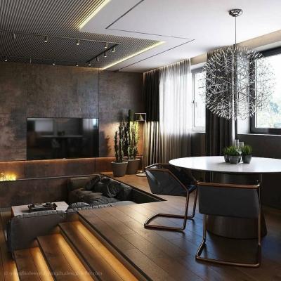 下沉式客厅设计,人与空间的完美碰撞!