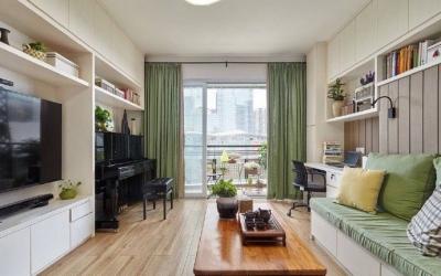 家,如同一个收纳大盒子,各空间都被按需求划分好地盘。