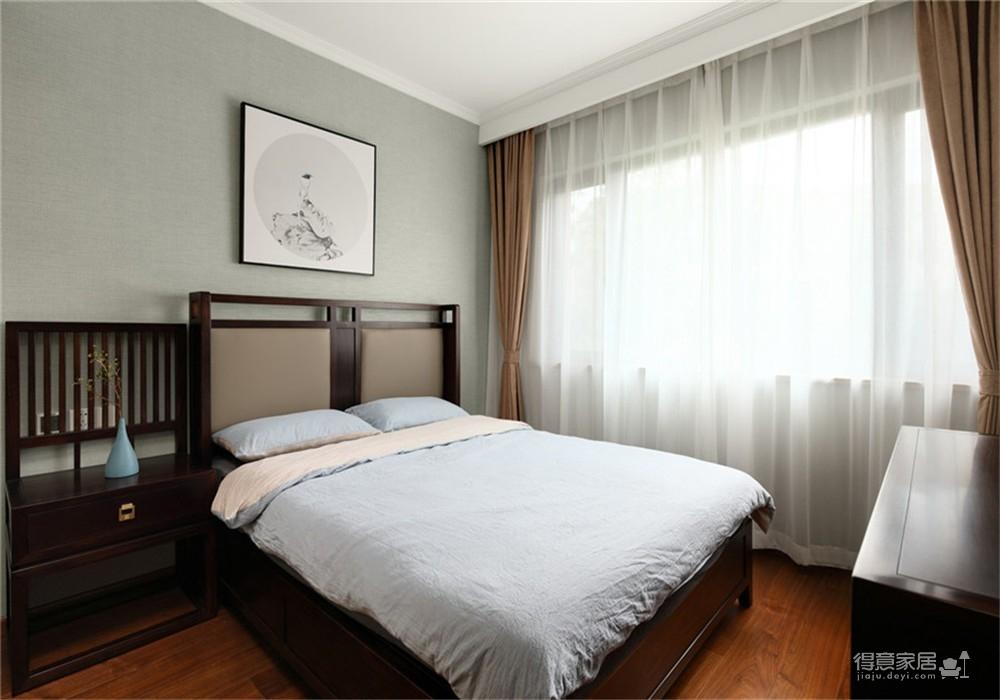 中建锦绣双城107平三居室中式装饰效果图