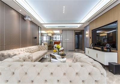 龙庭华府125平三居室现代风格装饰效果图