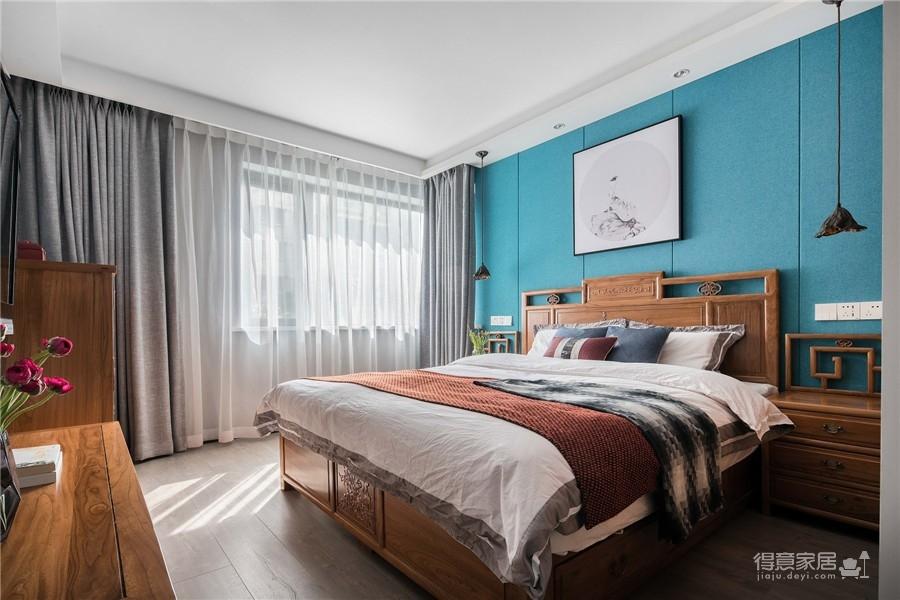 江景湾121平三居室中式风格装饰效果图
