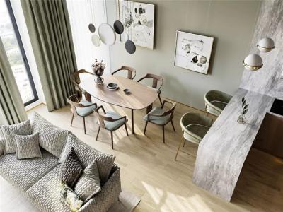 120㎡大两室一厅,色彩搭配太顺眼,功能太舒适