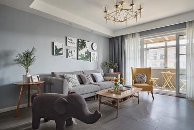 金地悦江时代131平三居室北欧风格装饰效果图