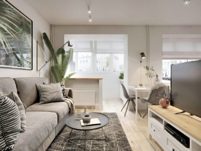 40㎡极致精简小公寓,满满的舒适感 !