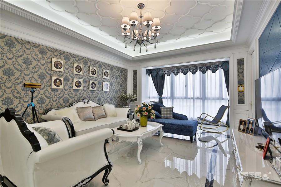 新长江香榭澜溪138平四居室欧式风格装饰效果图