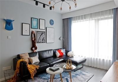 新城璞樾门第109平三居室北欧风格装饰效果图