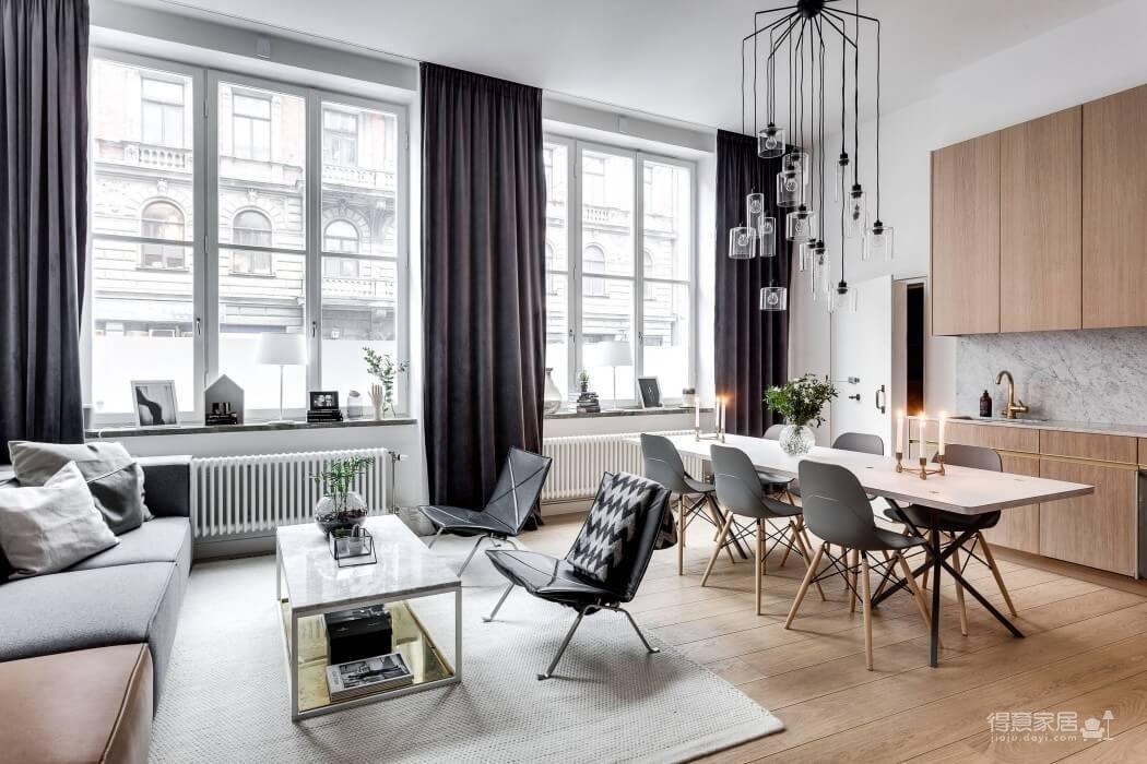 两居室67㎡现代风格精选案例