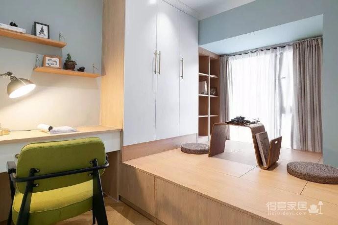 85㎡精致混搭风二居室,优雅的墨绿色空间