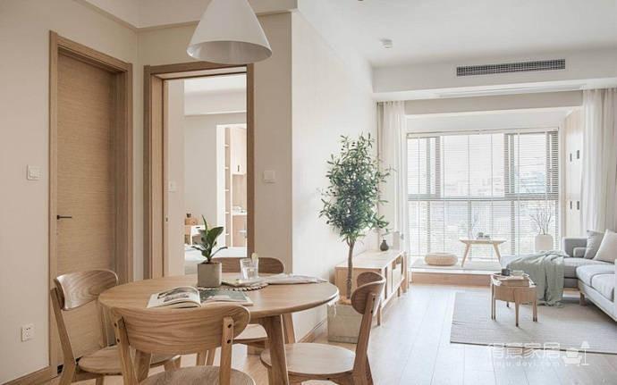 简约日式风家居设计,木质的运用使得空间格外温馨舒适!图_6