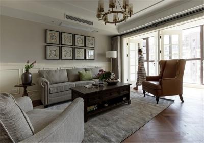 城投瀚城璞岸145平四居室现代风格装饰效果图