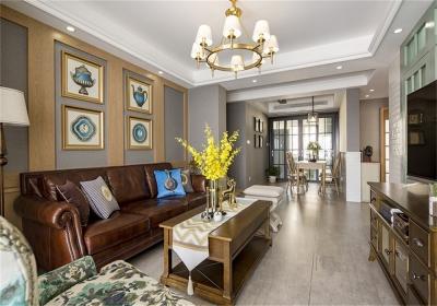 汉阳人信汇140平四居室美式风格装饰效果图