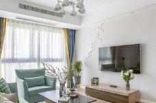 98㎡简约北欧风格家居装修设计,格外自然清新! 图_2