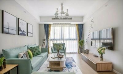 98㎡简约北欧风格家居装修设计,格外自然清新! 