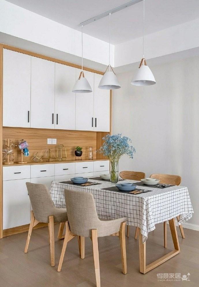 98㎡简约北欧风格家居装修设计,格外自然清新! 图_7
