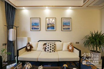 旭辉半岛124平三室两厅新中式风