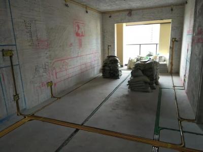 长投绿城兰园98平三室水电验收现场