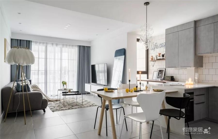 89㎡舒适北欧2室2厅,轻盈优雅演绎质感生活图_1