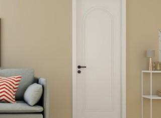 TATA木门 简约卧室门家用套装门定制厨房门静音室内门@038-J瓷白