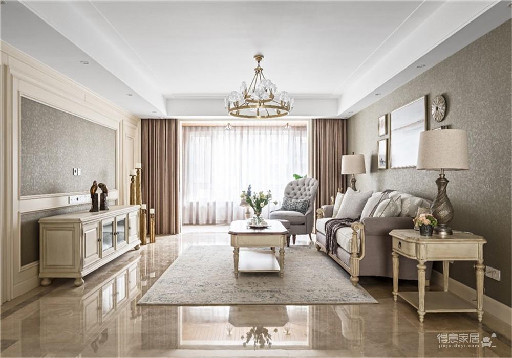 中核时代广场154平四居室美式风格装饰效果图图_1