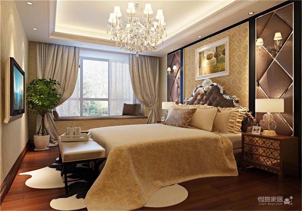 王家湾中央生活区123平三居室简欧风格装饰效果图图_2