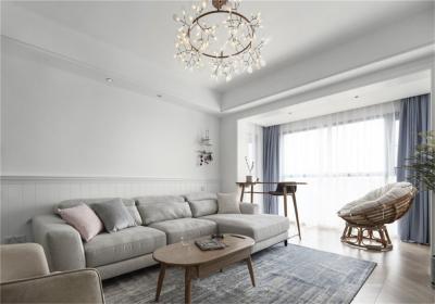 万博玖珑湾109平三居室现代风格装饰效果图