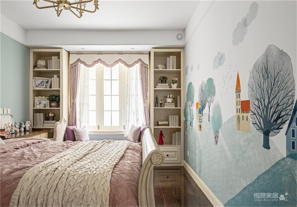 中核时代广场154平四居室美式风格装饰效果图图_3