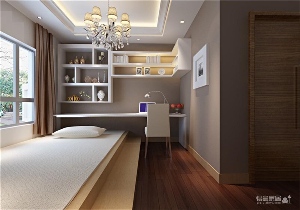 王家湾中央生活区123平三居室简欧风格装饰效果图图_4