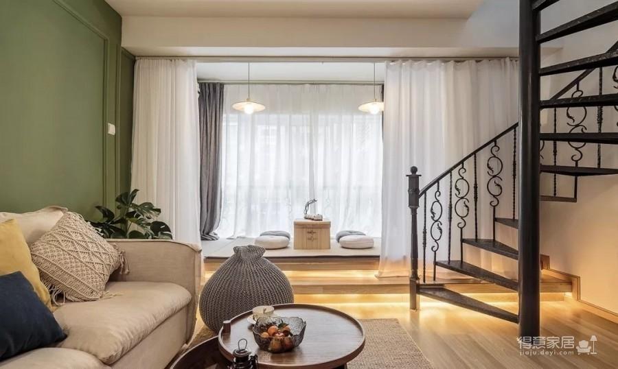 60㎡现代轻奢小公寓,一两人住小复式,日子精致好情趣图_8