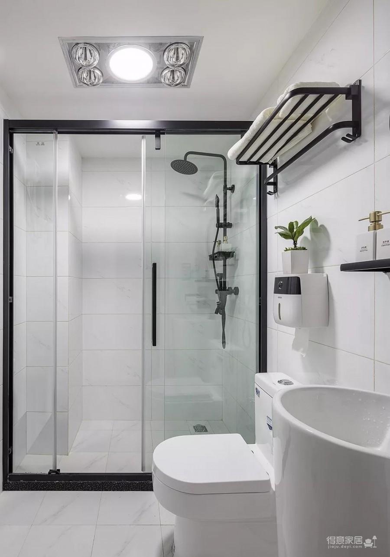 60㎡现代轻奢小公寓,一两人住小复式,日子精致好情趣图_7