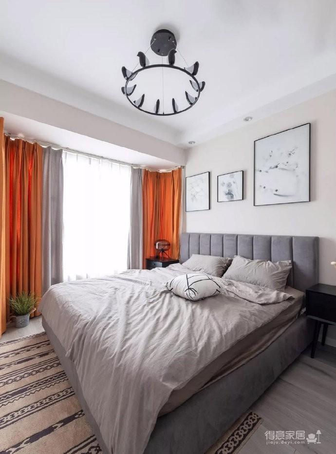 98㎡简约北欧风三居室装修案例,自然清新的舒适之家! 图_5