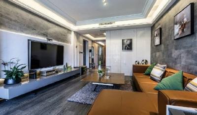 现代简约风格家居装修,充满质感的空间搭配,很酷! 