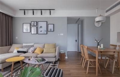 90㎡清新北欧风格家居装修,大爱阳光书房的设计! 
