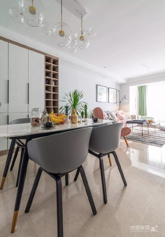 98㎡简约北欧风三居室装修案例,自然清新的舒适之家! 图_7