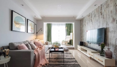 98㎡简约北欧风三居室装修案例,自然清新的舒适之家! 