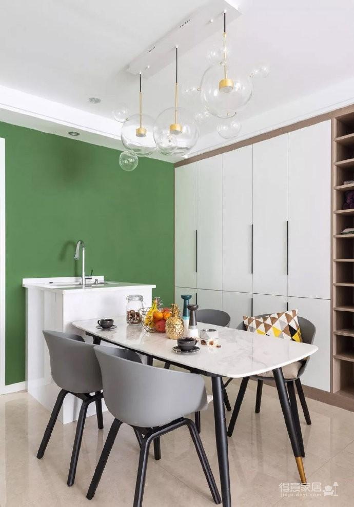 98㎡简约北欧风三居室装修案例,自然清新的舒适之家! 图_6