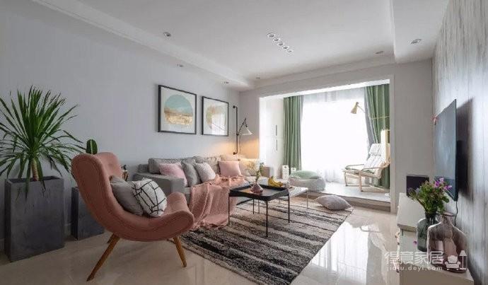 98㎡简约北欧风三居室装修案例,自然清新的舒适之家! 图_3