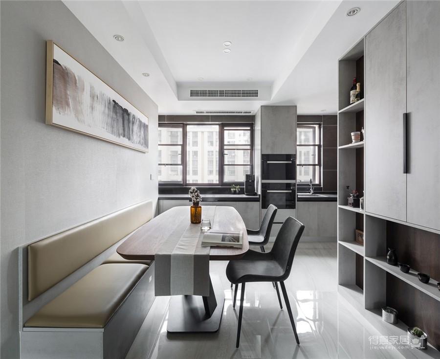 锦深汉南公馆130平三居室现代风格装饰效果图