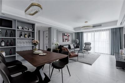 联投光谷瑞园118平三居室现代风格装饰效果图