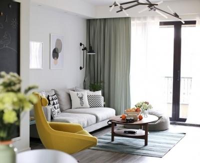 板桥逸景87平三居室现代简约风格装饰效果图