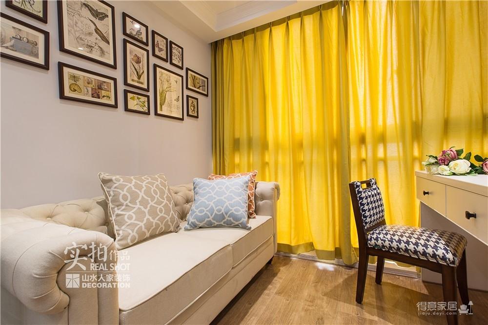 森林小镇简美90平三室两厅风格