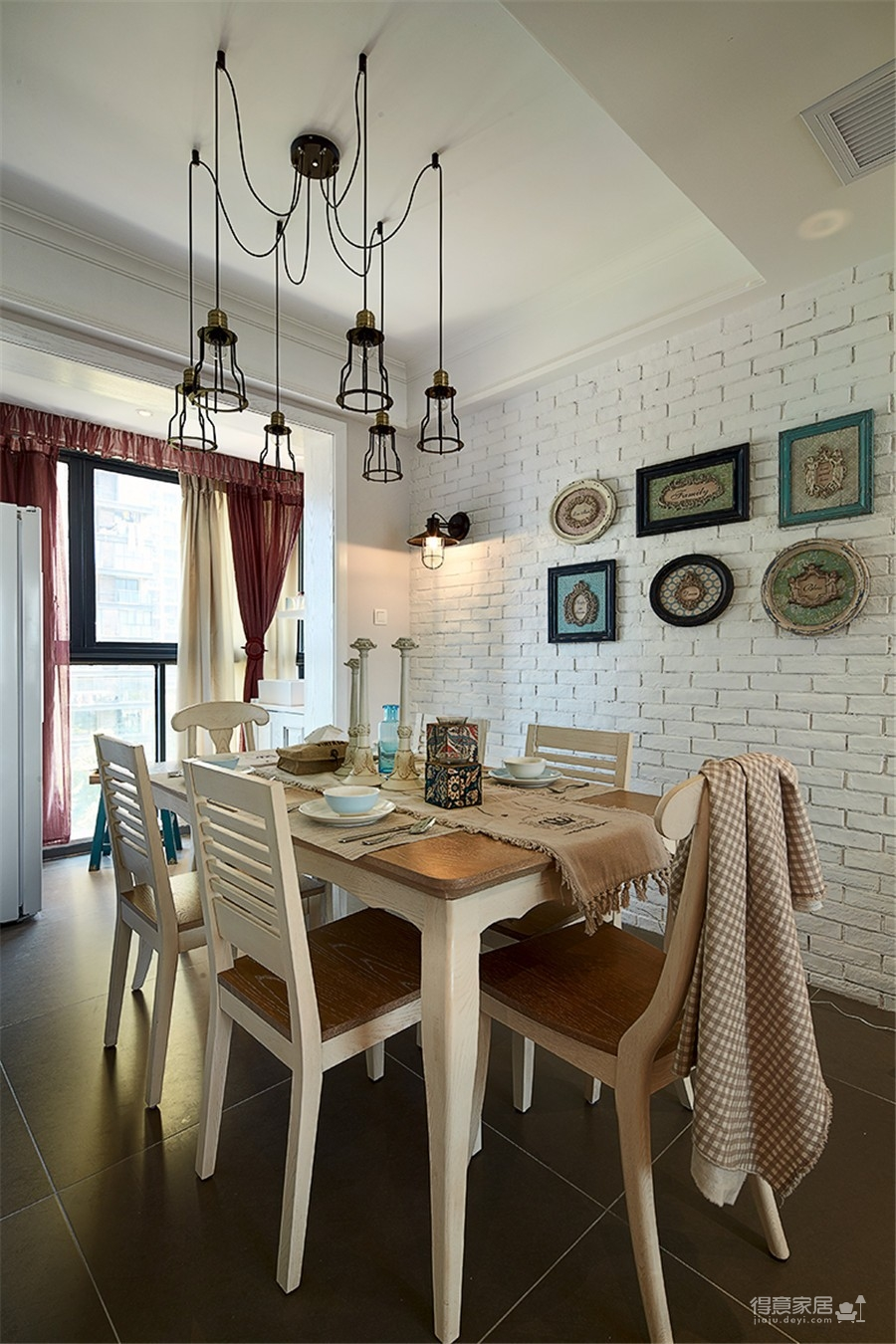 台银城122平三居室北欧风格装饰效果图