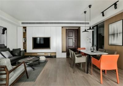 台银城87平二居室现代风格装饰效果图