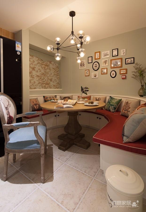 豹山小区110平现代彩色风格装修设计