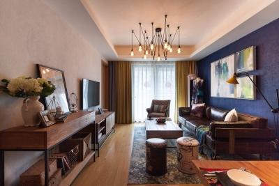 金城一号100平三室现代混搭风格装修设计