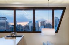 42㎡ 的简约公寓,一道木墙分割了多功能空间图_9
